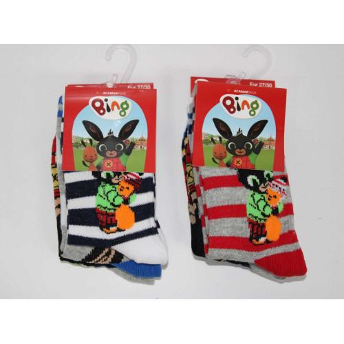 HU5655 Klasické ponožky-BING BOY #36@288